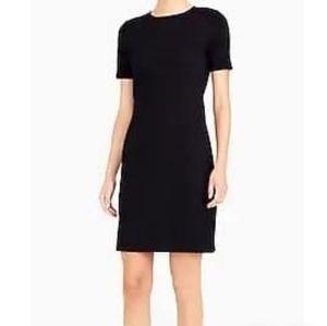J Crew Black Ponte Short Sleeve Shift Dress